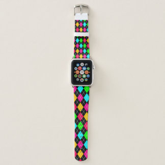 Colorful Classic Argyle Apple Watch Band