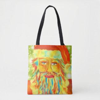 Colorful Claus Art Tote Bag