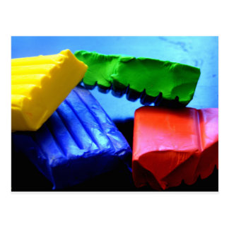 Colorful Clay Postcard