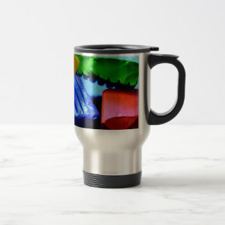 Colorful Clay Travel Mug