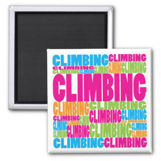 Colorful Climbing Square Magnet