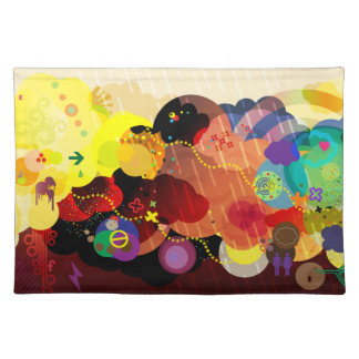 colorful clouds abstract placemat