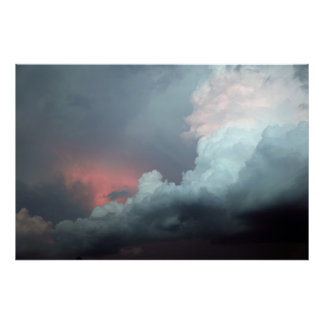 Colorful clouds poster