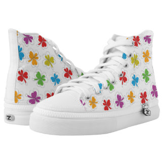 Colorful clover leaf sneakers
