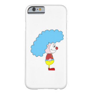 Colorful Clown Cartoon. Blue Hair. Barely There iPhone 6 Case