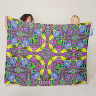 Colorful Clown Mandala Fleece Blanket