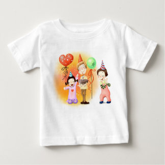 Colorful  Clowns Baby T-Shirt