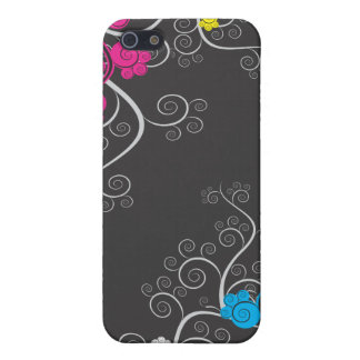 Colorful CMYK Abstract Vines Cover For iPhone 5