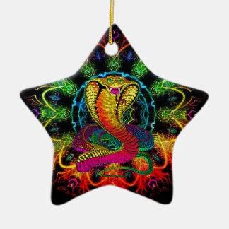 colorful cobra ceramic ornament