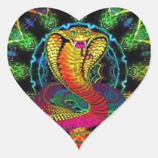 colorful cobra heart sticker