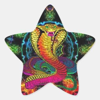colorful cobra star sticker