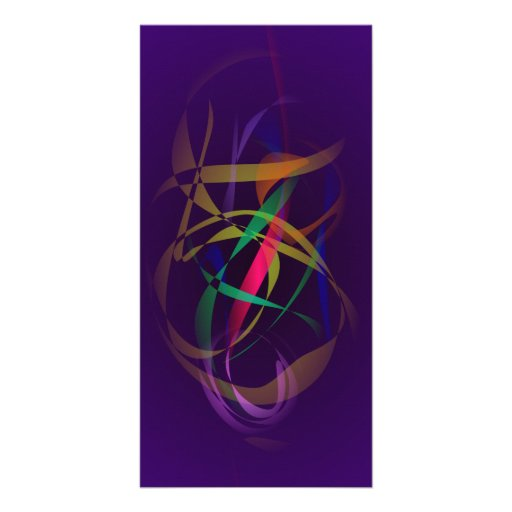 Colorful Cocoon in a Dark Purple Space Customized Photo Card
