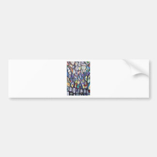 Colorful Cocoons (abstract expressionism) Bumper Sticker