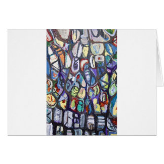 Colorful Cocoons (abstract expressionism) Greeting Card