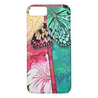 Colorful Collage Flowers And Butterfly iPhone 7 Case