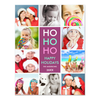 COLORFUL COLLAGE | HOLIDAY PHOTO CARD 11 CM X 14 CM INVITATION CARD