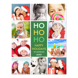 COLORFUL COLLAGE | HOLIDAY PHOTO CARD INVITATION