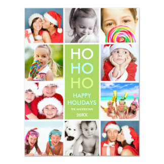 COLORFUL COLLAGE | HOLIDAY PHOTO CARD INVITES