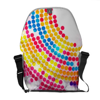 Colorful color Circle  Dots Pattern for Girls Messenger Bags