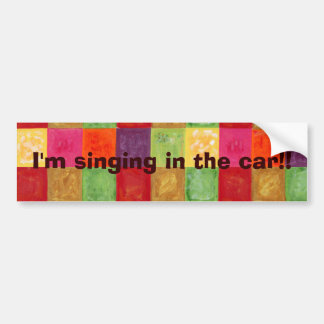 Colorful Color Grid Pattern Bumper Sticker