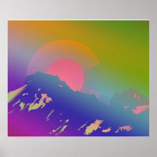 Colorful Colorado Mountains Poster