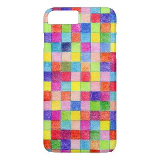 Colorful Colored In Graph Paper Squares iPhone 8 Plus/7 Plus Case