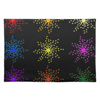 Colorful Comic Explosions Placemat