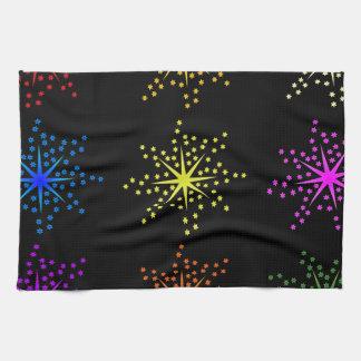 Colorful Comic Explosions Tea Towel