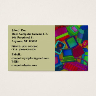 COLORFUL COMPUTER PARTS COMPONENTS BUSINESS CARD