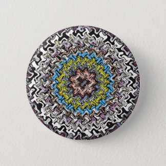 Colorful Concentric Chaos 6 Cm Round Badge
