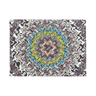 Colorful Concentric Chaos Doormat