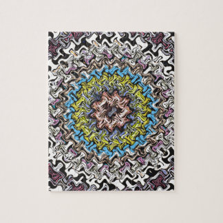 Colorful Concentric Chaos Jigsaw Puzzle