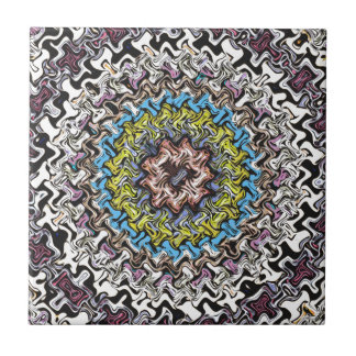 Colorful Concentric Chaos Tile