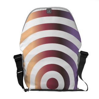 Colorful concentric circles messenger bags