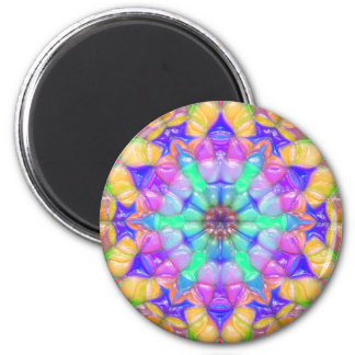 Colorful Concentric Reflections 6 Cm Round Magnet