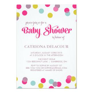 COLORFUL CONFETTI DOTS | BABY SHOWER INVITATION