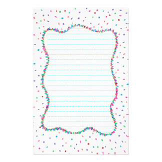 Colorful Confetti Lined Stationery