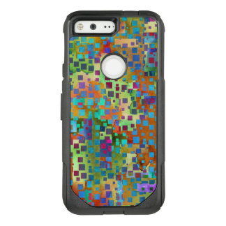 Colorful Confetti, Multicolored Abstract w Squares OtterBox Commuter Google Pixel Case