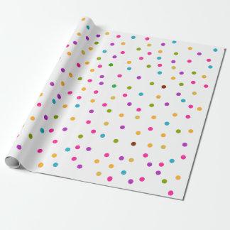 Colorful confetti pattern gift wrap