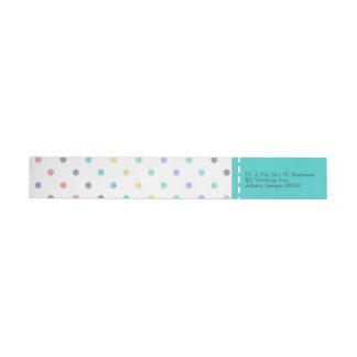 Colorful Confetti Polka Dot Wedding Address Labels