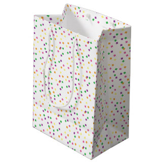 Colorful Confetti Squares Party Celebration Medium Gift Bag
