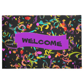 Colorful Confetti Toss Artwork Doormat