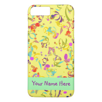 Colorful Confetti Toss Over Yellow iPhone 8 Plus/7 Plus Case