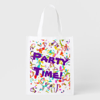 Colorful Confetti Toss Reusable Grocery Bag