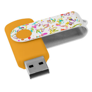 Colorful Confetti Toss USB Flash Drive
