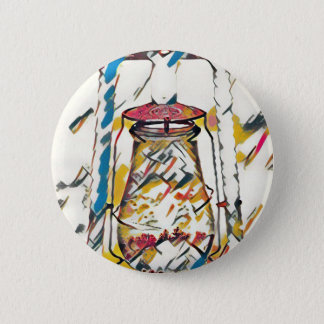 Colorful Contemporary Artistic Lantern 6 Cm Round Badge