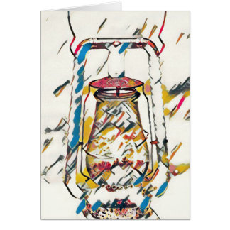Colorful Contemporary Artistic Lantern Card