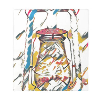 Colorful Contemporary Artistic Lantern Notepad