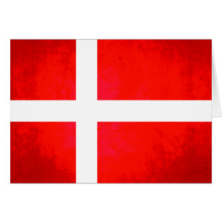 Colorful Contrast Danish Flag Card
