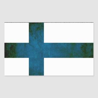 Colorful Contrast Finnish Flag Rectangular Sticker